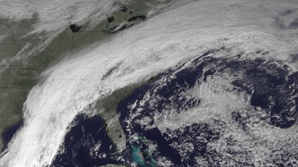 Stalled Cold Front Spotted from Space