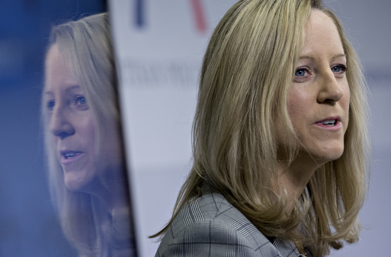 Kathy Kraninger, director of the Consumer Financial Protection Bureau (CFPB), speaks during an event at the Bipartisan Policy Center in Washington, D.C., U.S., on Wednesday, April 17, 2019. (Photo: Andrew Harrer/Bloomberg via Getty Images)