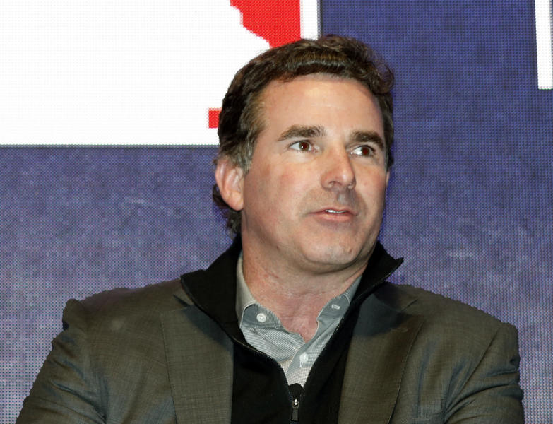 "FILE - In this Dec. 5, 2016, file photo, Under Armour Chief Executive Officer and founder Kevin Plank speaks on stage during an Under Armour announcement event at Major League Baseball's winter meetings in Oxon Hill, Md. The CEO of Baltimore-based sports apparel company Under Armour is responding to criticism he received after calling President Donald Trump ""an asset to the country."" Plank wrote an open letter to Baltimore published as a full-page advertisement in The Baltimore Sun Wednesday, Feb. 15, 2017. (AP Photo/Alex Brandon, File)"