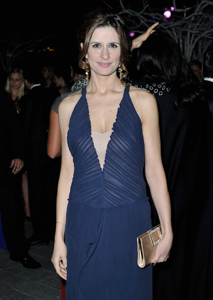 """DUBAI, UNITED ARAB EMIRATES - DECEMBER 14:  Livia Firth attends the 2012 Dubai International Film Festival, Dubai Cares and Oxfam """"One Night to Change Lives"""" Charity Gala at the Armani Hotel on December 14, 2012 in Dubai, United Arab Emirates.  (Photo by Gareth Cattermole/Getty Images for DIFF)"""