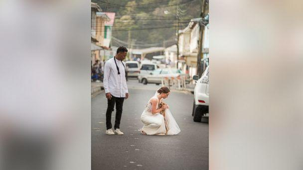 PHOTO: Tennessee Titan cornerback Logan Ryan and his wife Ashley Bragg Ryan asked their wedding guests to donate to Help Animal Welfare in Saint Lucia instead of giving wedding gifts. (Jade Mountain Resort)