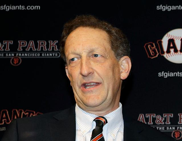 """<a class=""""link rapid-noclick-resp"""" href=""""/mlb/teams/san-francisco/"""" data-ylk=""""slk:San Francisco Giants"""">San Francisco Giants</a> CEO Larry Baer won't face charges after he was recorded in a physical altercation with his wife. (AP)"""