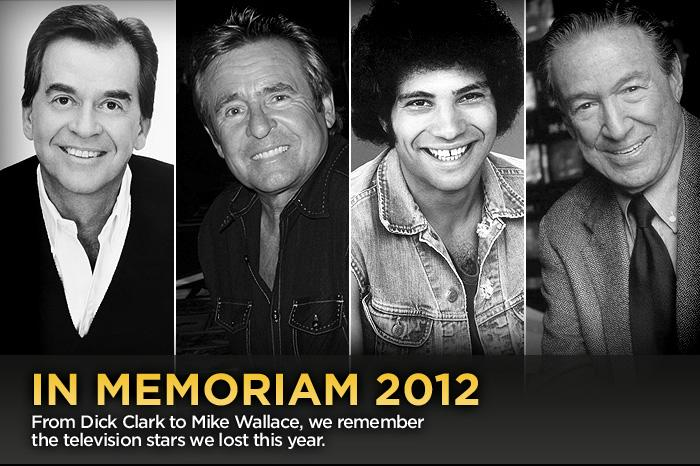 Click through this slideshow for a look back at some of the television greats who have passed on in 2012.