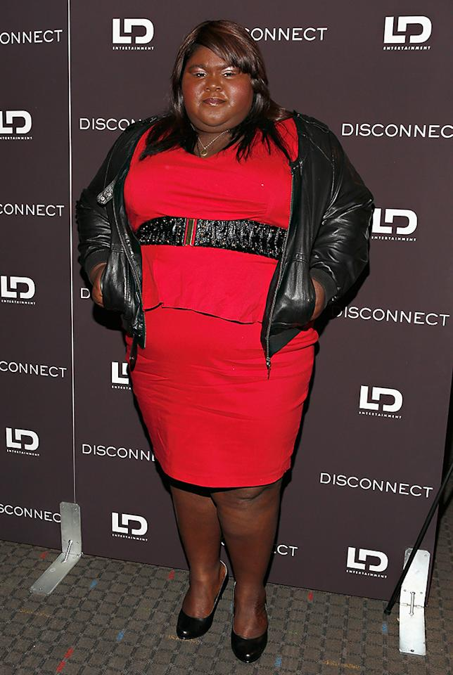 "NEW YORK, NY - APRIL 08:  Actress Gabourey Sidibe attends the ""Disconnect"" New York Special Screening at SVA Theater on April 8, 2013 in New York City.  (Photo by Cindy Ord/Getty Images)"