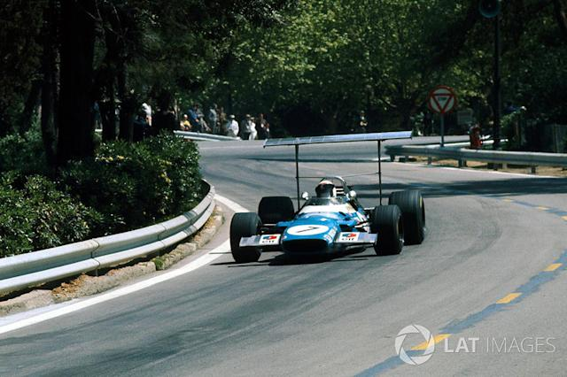 """Jackie Stewart, Matra Cosworth MS80 <span class=""""copyright"""">Sutton Images</span>"""