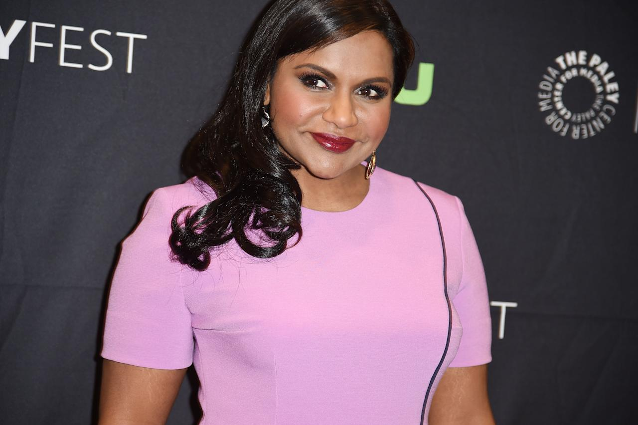 """<p>There's really no """"right"""" time to start your period, but Mindy Kaling has said she felt insecure about starting hers later than many of her friends. """"I started menstruating in ninth grade,"""" Mindy wrote in an open letter featured in <a rel=""""nofollow"""" href=""""https://www.amazon.com/Rookie-Yearbook-Two-Tavi-Gevinson/dp/1770461485?mbid=synd_yahoostyle""""><em>Rookie Yearbook Two</em></a>. """"I spent all of eighth grade faking that I had my period, down to sticking Kotex in my underwear in case anyone needed proof."""" (Girl, you are <em>not</em> alone!)</p>"""