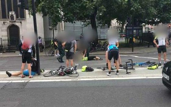 Cyclists were hit as Salih Khater swerved across traffic - PA