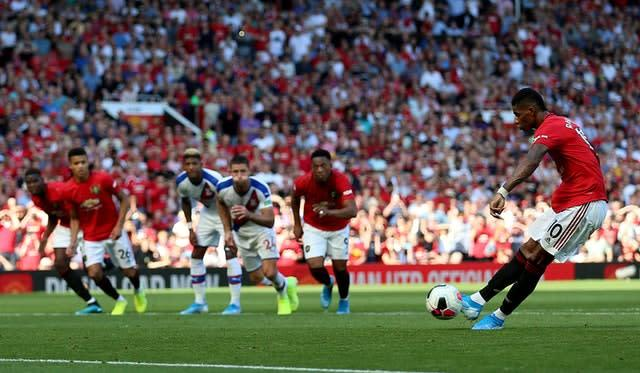 Marcus Rashford's penalty miss cost United (Nigel French/PA)