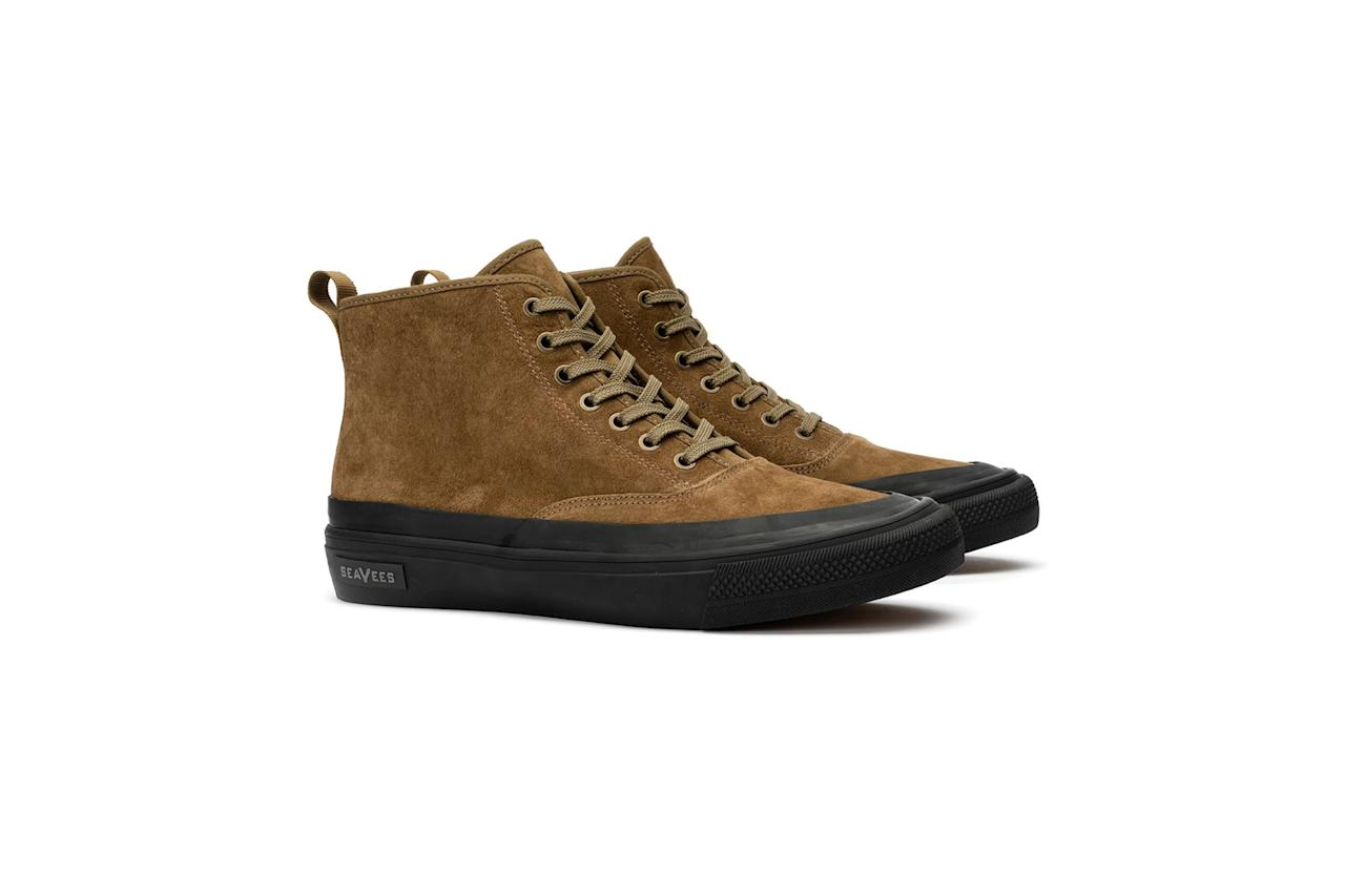 """$158, SeaVees. <a href=""""https://www.seavees.com/products/mens-mariners-boot-desert-suede"""">Get it now!</a>"""