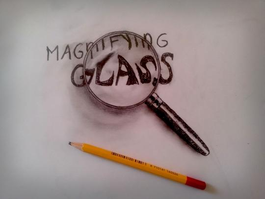 Clever: Ramon's drawing of a magnifying glass makes you look twice (Ramon Bruin)