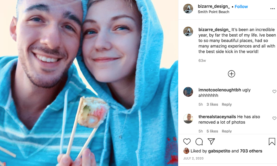 A photo from the couple's first roadtrip in 2020 (Instagram)