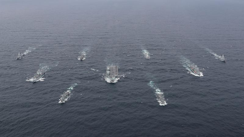 HMS Queen Elizabeth heads carrier strike group for first time