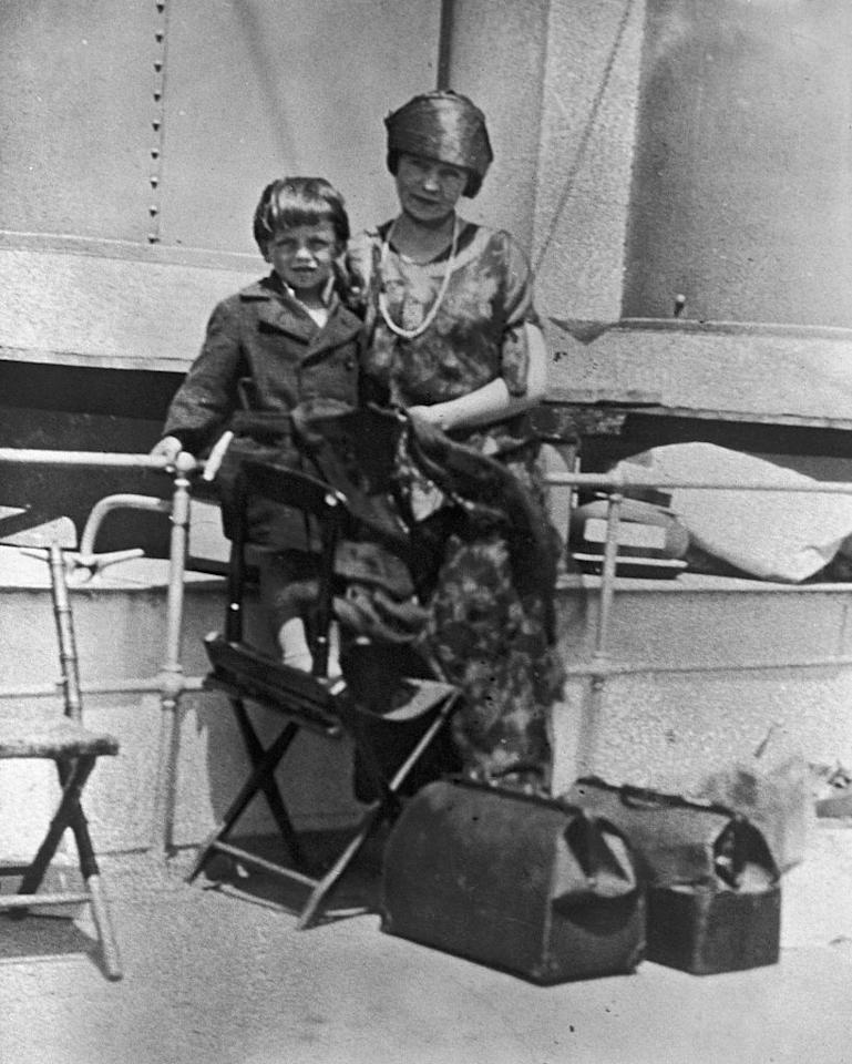 <p>The singer was born on December 12, 1915 in Hoboken, New Jersey. Here, he's seen as a young boy on a ship with his mother. </p>