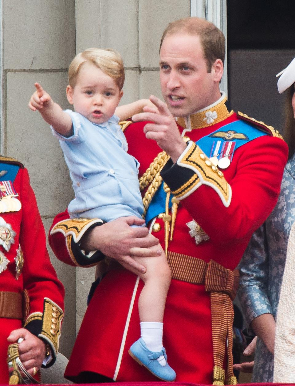 One-year-old Prince George attends his first Trooping the Colour. (PA Images)