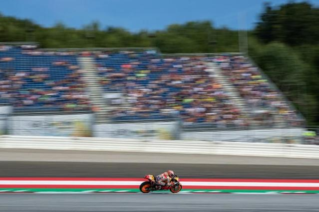 Marquez stormed to pole at Silverstone (AFP Photo/Johann GRODER)