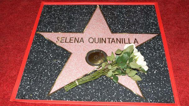 PHOTO: Singer Selena Quintanilla is honored posthumously with a Star on the Hollywood Walk of Fame, Nov. 3, 2017, in Hollywood, Calif. (Tara Ziemba/AFP/Getty Images)