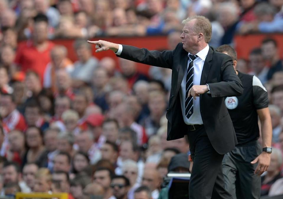 Newcastle manager Steve McClaren has watched his side slump to second bottom of the table after failing to win any of their first six matches (AFP Photo/Oli Scarff)
