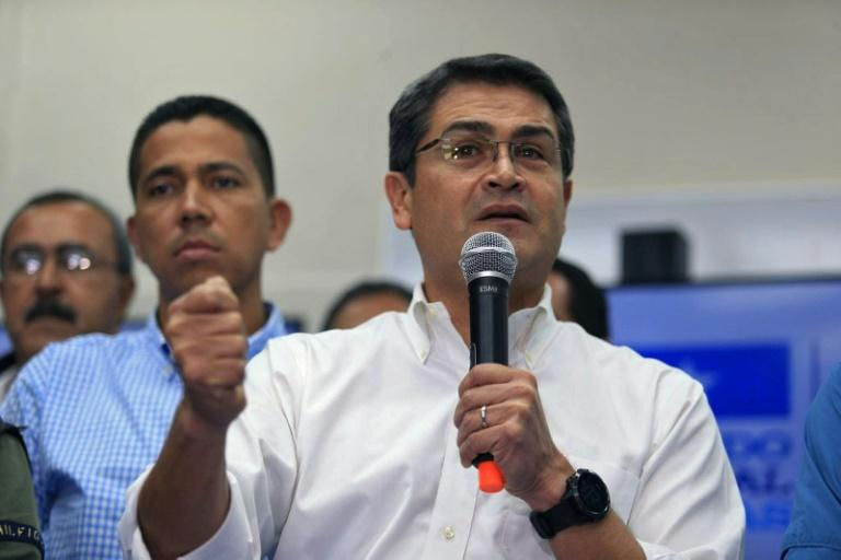 Honduran President Juan Orlando Hernandez, pictured on December 6, 2017, has not been officially reelected as the results of the November 26 race continue to be scrutinized