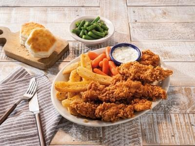 New this summer, guests can enjoy Cracker Barrel's crispy Hand-breaded Fried Chicken Tenders, served with a new dill pickle ranch sauce.