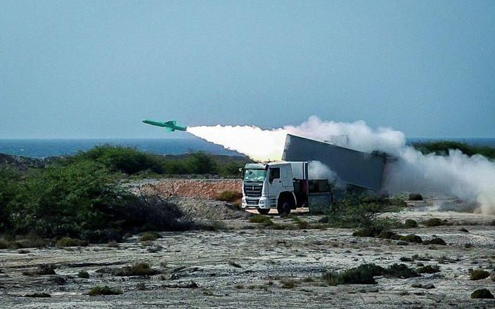 File image of Iranian forces carrying out a surface-to-air missile launch - Shutterstock