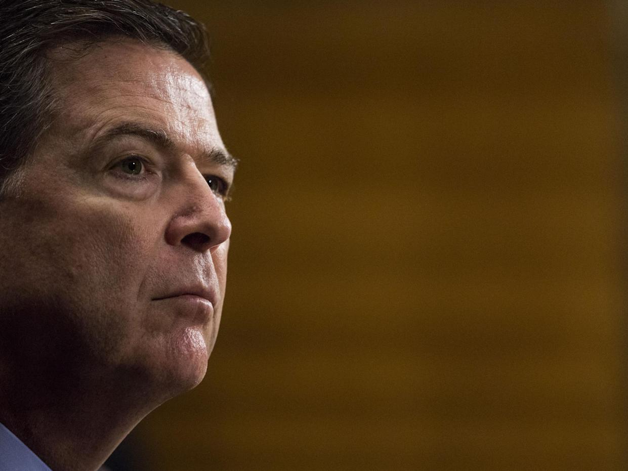 President Trump dismissed James Comey as director of the FBI: Getty