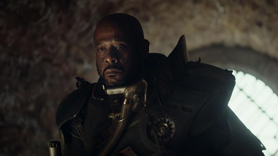 """<p>Forest Whitaker's Rebel insurgent Saw Gerrera appears in the prologue of the film very briefly, but this shot from the trailer and his """"what will you do if they catch you?"""" speech suggests he had a much bigger scene that was cut. Credit: Lucasfilm/Disney </p>"""