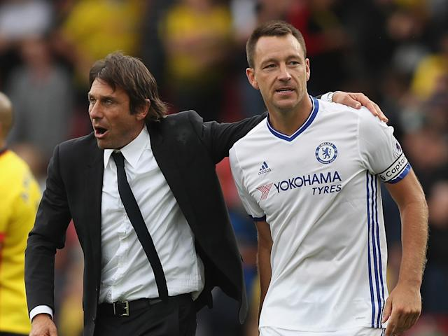 John Terry has only made five league appearances for Antonio Conte's Chelsea this season: Getty