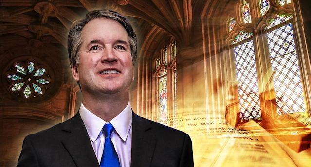 Brett Kavanaugh's education at Mater Dei and Georgetown Prep, outside Washington, D.C., had a profound impact on how he views the world. (Photo illustration: Yahoo News; photos: AP, Getty)