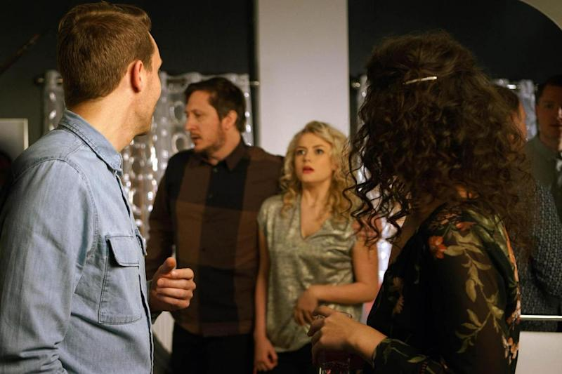Bethany is led away by Nathan's friend Neil in Friday night's episode