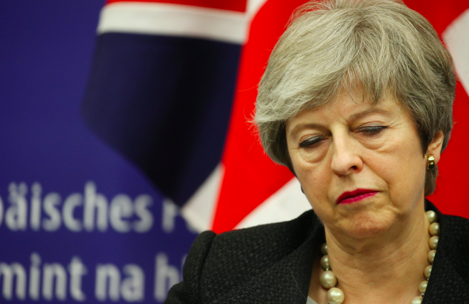 <em>Mrs May's authority has been dealt a severe blow after a series of Brexit defeats (Getty)</em>