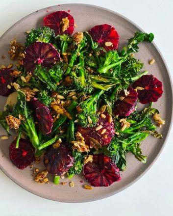 """<p>California food writer, chef and cookbook author Julia Sherman turns vegetables into plates of wonder that will stop you thinking a bowl of greens is boring again. Dishes, like this roasted Broccolini over tahini sauce, sliced blood orange and crushed crunchy sumac seed cracker, make us believe salad should run for President.</p><p><a href=""""https://www.instagram.com/saladforpresident/"""" target=""""_blank"""">@saladforpresident</a></p>"""
