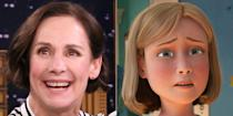 <p>Laurie Metcalf, who you know from<em> Lady Bird </em>and <em>Roseanne</em>, most memorably voiced Andy's mom in all three movies of the <em>Toy Story</em> franchise beginning in 1995. She also played Jim Hawkins's mom in <em>Treasure Planet</em> and a scientist (who also eventually becomes a mom) in <em>Meet the Robinsons</em>.</p>