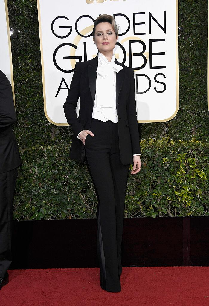 Evan Rachel Wood in Altuzarra. (Photo: Getty Images)