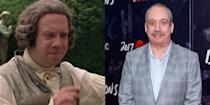 <p>The actor donned an impressive wig to play one of America's founding fathers for the mini series, <em>John Adams, </em>which made him almost unrecognizable.</p>