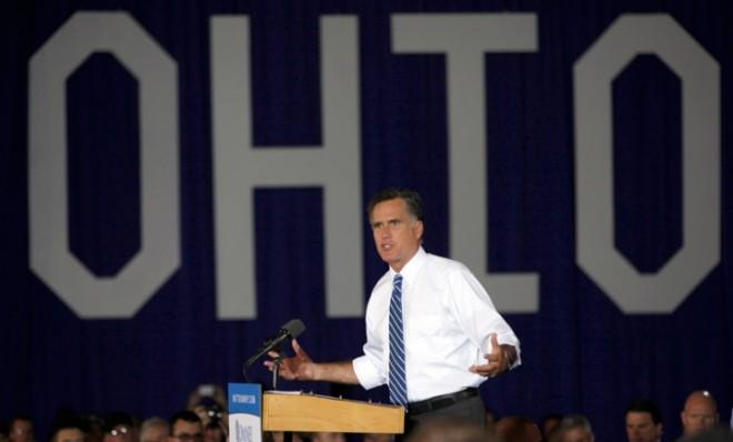 Mitt Romney campaigns in Ohio — a state he ultimately lost to President Obama.