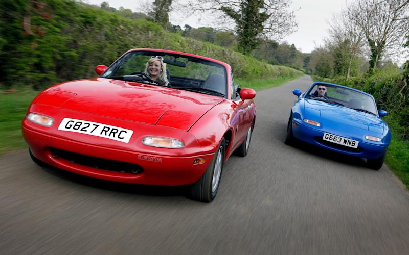 Early examples of the Mazda MX-5 are increasingly rare, so one that's ben stored for 12 years is definitely worth something