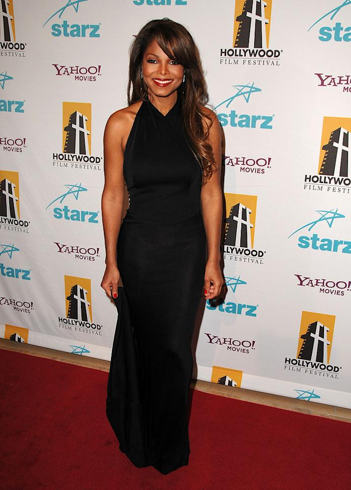 "<a href=""http://movies.yahoo.com/movie/contributor/1800082644"">Janet Jackson</a> at the Hollywood Film Festival's Hollywood Awards in Beverly Hills - 10/22/2007"