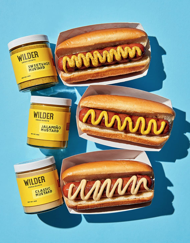 """<p><strong>Wilder Condiments</strong></p><p>amazon.com</p><p><strong>$28.00</strong></p><p><a href=""""https://www.amazon.com/dp/B07YL838FD?tag=syn-yahoo-20&ascsubtag=%5Bartid%7C10072.g.33980079%5Bsrc%7Cyahoo-us"""" rel=""""nofollow noopener"""" target=""""_blank"""" data-ylk=""""slk:Shop Now"""" class=""""link rapid-noclick-resp"""">Shop Now</a></p><p>These artisan mustards—in classic, jalapeño, and sweet and hot flavors—will make a great addition to any foodies collection of condiments.</p>"""