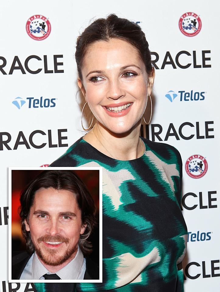 "Who knew? Long before she was happily engaged to her latest beau, Will Koppelman (and expecting their first child if you believe the pics), Drew Barrymore went on a date with ""Dark Knight"" hunk Christian Bale, back when they were teenagers. ""We went to see some bloody awful horror film, and that was the end of it,"" Bale recently told <em>Australian GQ</em>. ""She never called again."" Ouch!"