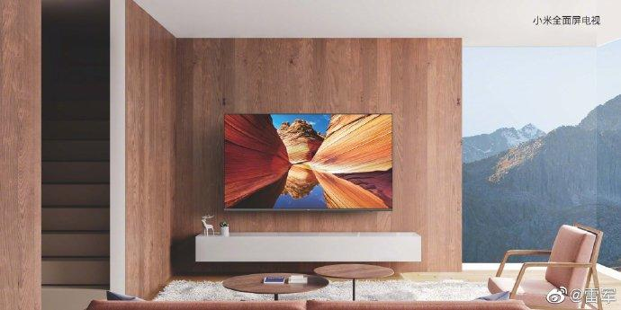 Xiaomi's redesigned its new TVs to feature a Mi Mix-inspired ultra-slim design. Image: Xiaomi/ Weibo