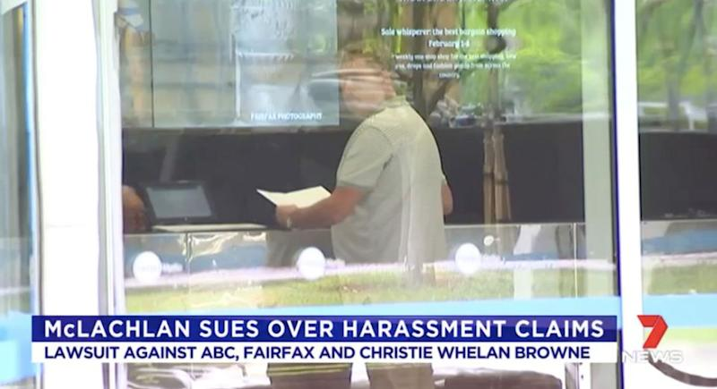 Craig McLachlan's legal representative served papers on two media outlets on Thursday afternoon. Source: 7 News