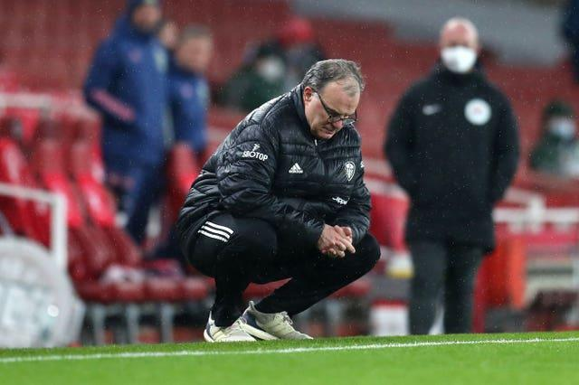 Leeds boss Marcelo Bielsa bemoaned a poor first half from his side