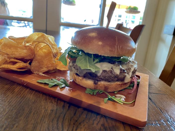 This burger from Terralina Crafted Italian was the lightest burger we had during our trip. (Terri Peters)