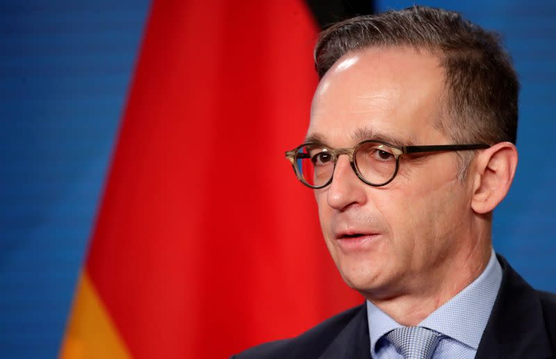 FILE PHOTO: German Foreign Minister Heiko Maas and his Palestinian counterpart al-Maliki meet in Berlin