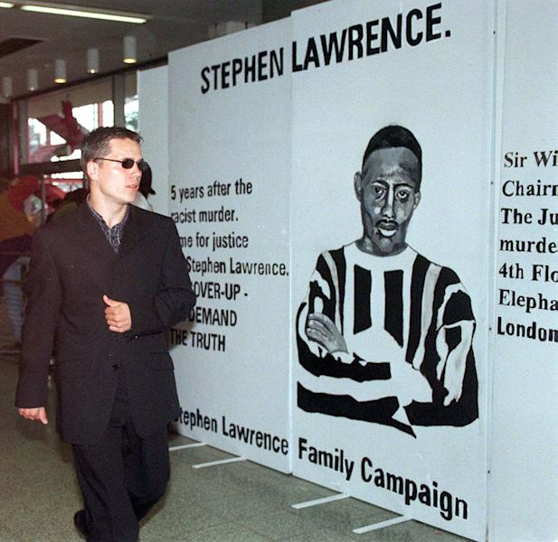 File pic of a younger Jamie Acourt arriving to give evidence at the public inquiry into the racist murder of Stephen Lawrence (PA)