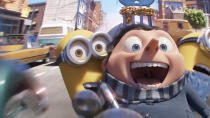 """The most adorable critters in modern cinema — sorry Peter Rabbit and the Porgs — are set to return for a sequel to their 2015 spin-off from the <em>Despicable Me</em> franchise — the <a href=""""https://uk.movies.yahoo.com/despicable-now-highest-grossing-animated-franchise-time-074340092.html"""" data-ylk=""""slk:highest-grossing animation series in history;outcm:mb_qualified_link;_E:mb_qualified_link;ct:story;"""" class=""""link rapid-noclick-resp yahoo-link"""">highest-grossing animation series in history</a>. This time, the story will focus on the early days of the minions' bond with a young Gru, leading to him becoming the supervillain he is by the time we met him in the original <em>Despicable Me</em> film. (Credit: Universal)"""