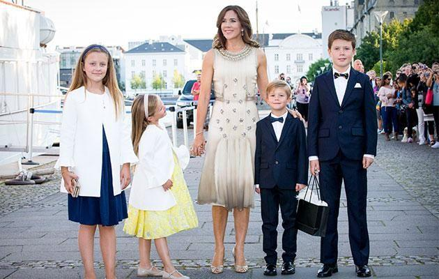 Crown Princess Mary was her usually glam self at the party. Photo: Getty