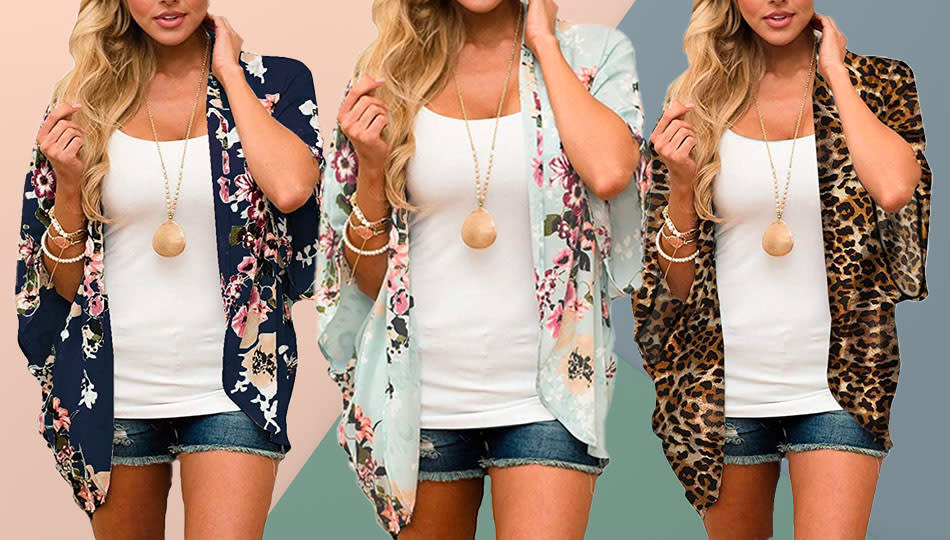 The Relipop kimono comes in 41 patterns of various lengths. (Photo: Amazon)