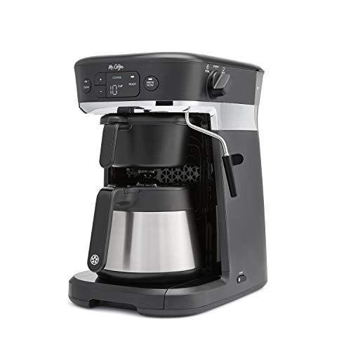 """<p><strong>Mr. Coffee</strong></p><p>amazon.com</p><p><strong>$229.99</strong></p><p><a href=""""http://www.amazon.com/dp/B07RG7ZSG5/?tag=syn-yahoo-20&ascsubtag=%5Bartid%7C10055.g.29069348%5Bsrc%7Cyahoo-us"""" rel=""""nofollow noopener"""" target=""""_blank"""" data-ylk=""""slk:Shop Now"""" class=""""link rapid-noclick-resp"""">Shop Now</a></p><p>The <a href=""""https://www.goodhousekeeping.com/appliances/coffee-maker-reviews/a28708460/mr-coffee-easy-measure-coffee-maker/"""" rel=""""nofollow noopener"""" target=""""_blank"""" data-ylk=""""slk:Mr. Coffee"""" class=""""link rapid-noclick-resp"""">Mr. Coffee</a> All-in-One Coffee Maker does it all. <strong>It can make espresso, K-cup based drinks, or a full pot of coffee in a thermal carafe.</strong> It also has a steam wand to froth milk. The control panel is very easy to use, and the attachments became easier to attach and detach after the first couple of times. In our tests, the automatic espresso function produced a nice crema, the K-cups tasted well-brewed, and the coffee was hot and full-bodied. The thermal carafe kept coffee hot for hours! When we checked on it the next day, it was still over 100°F!</p>"""