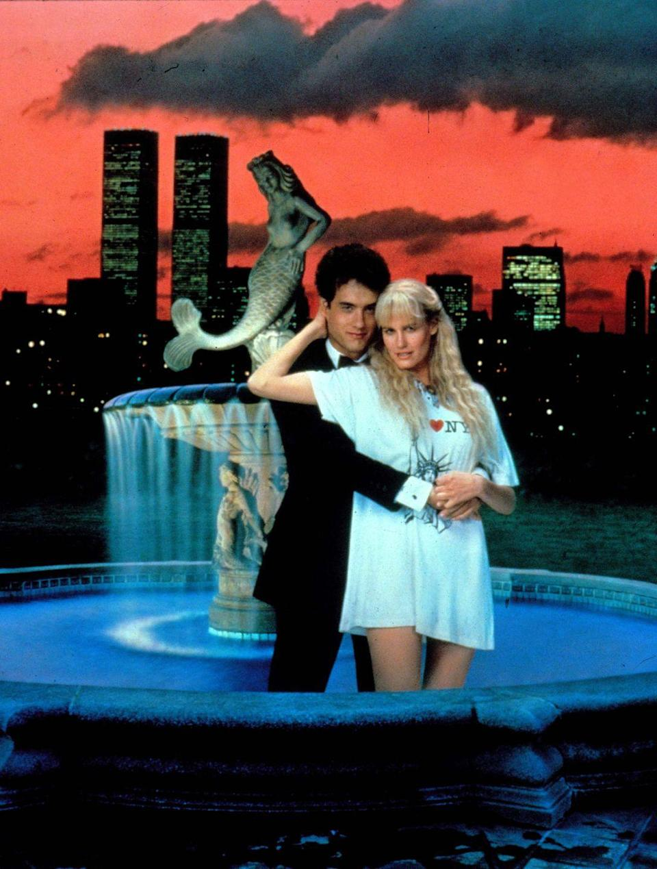 "<p>Tom Hanks and Daryl Hannah star in Ron Howard's fish-out-of-water story about a mermaid who reunites with the man she saved when he was a boy. Together on dry land, the two fall in love under the city lights of Manhattan, but are eventually are forced to make a decision: Choose love for the ocean or love for each other? The answer may surprise you. <a class=""link rapid-noclick-resp"" href=""https://www.amazon.com/Splash-Tom-Hanks/dp/B00D4LKOVC?tag=syn-yahoo-20&ascsubtag=%5Bartid%7C10056.g.6498%5Bsrc%7Cyahoo-us"" rel=""nofollow noopener"" target=""_blank"" data-ylk=""slk:Watch Now"">Watch Now</a></p>"